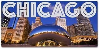 Chicago Millenium Park The Bean Vinyl Sticker - Car Phone Helmet - SELECT SIZE