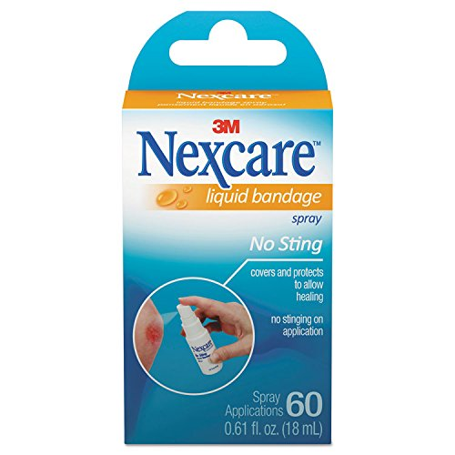 3M Nexcare 11803 Spray-On Liquid Bandage, No-Sting.61oz Bottle