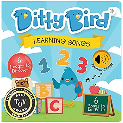 DITTY BIRD Baby Sound Book: Our Learning Songs Musical Book for Babies is The Perfect Toys for 1 Year Old boy and 1 Year Old Girl Gifts . Interactive ABC Music Book for Toddlers. Award-Winning!