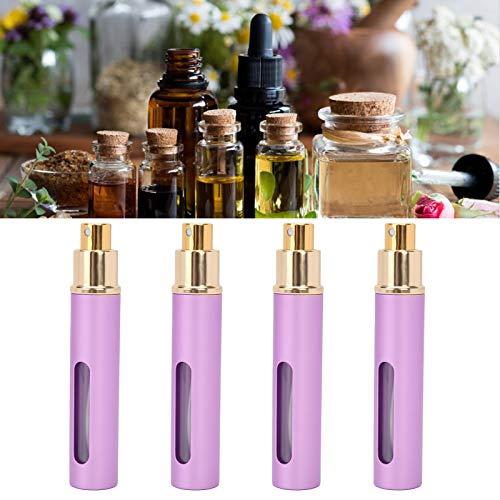 Botella de perfume, botella de perfume vacía portátil 4pcs para el hogar para el viaje(AB048Q purple)