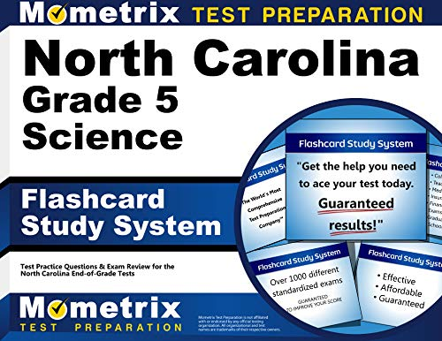 North Carolina Grade 5 Science Flashcard Study System: North Carolina EOG Test Practice Questions & Exam Review for the North Carolina End-of-Grade Tests (Cards)