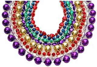 Toomey's Mardi Gras Throw Beads 33-Inch Length in Assorted Shapes and Colors 24 Dozen Count – M-33-MIX ASSORTED 24dz