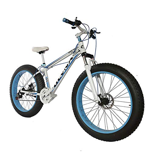 Double Disc Brake Mountain Bike, 26 Inch Fat Tire Bicycle From Snow Bike, Aluminum Alloy Frame, Fashion Mtb 21 Speed Full Suspension Steel Outdoor Riding