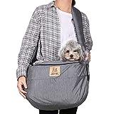 Luvodi trasportino per animali domestici, borsa a tracolla per cani e gatti, con mani libere, borsa per il trasporto anteriore, morbida e confortevole, ventilata