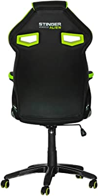 Woxter Stinger Station Alien Green - Silla gaming (Eje de acero,Levantamiento (Gas