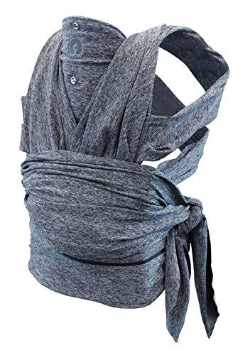 Boppy ComfyFit Mochila portabebé para un porteo natural, color gris