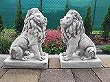 Ornamento da Giardino in Pietra - Coppia di Leoni Momentous