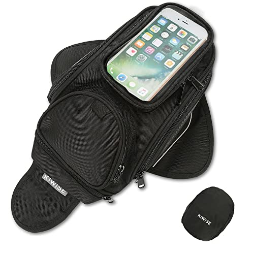 Motorcycle Tank Bag, Water Resistant with Super Strong Magnetic Gas Oil Fuel Tank Bag Black bigger...