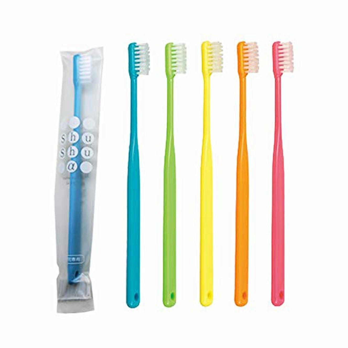 死すべき雇った抵当歯科専売品 大人用歯ブラシ FEED Shu Shu α(シュシュアルファ)×10本 M(ふつう)