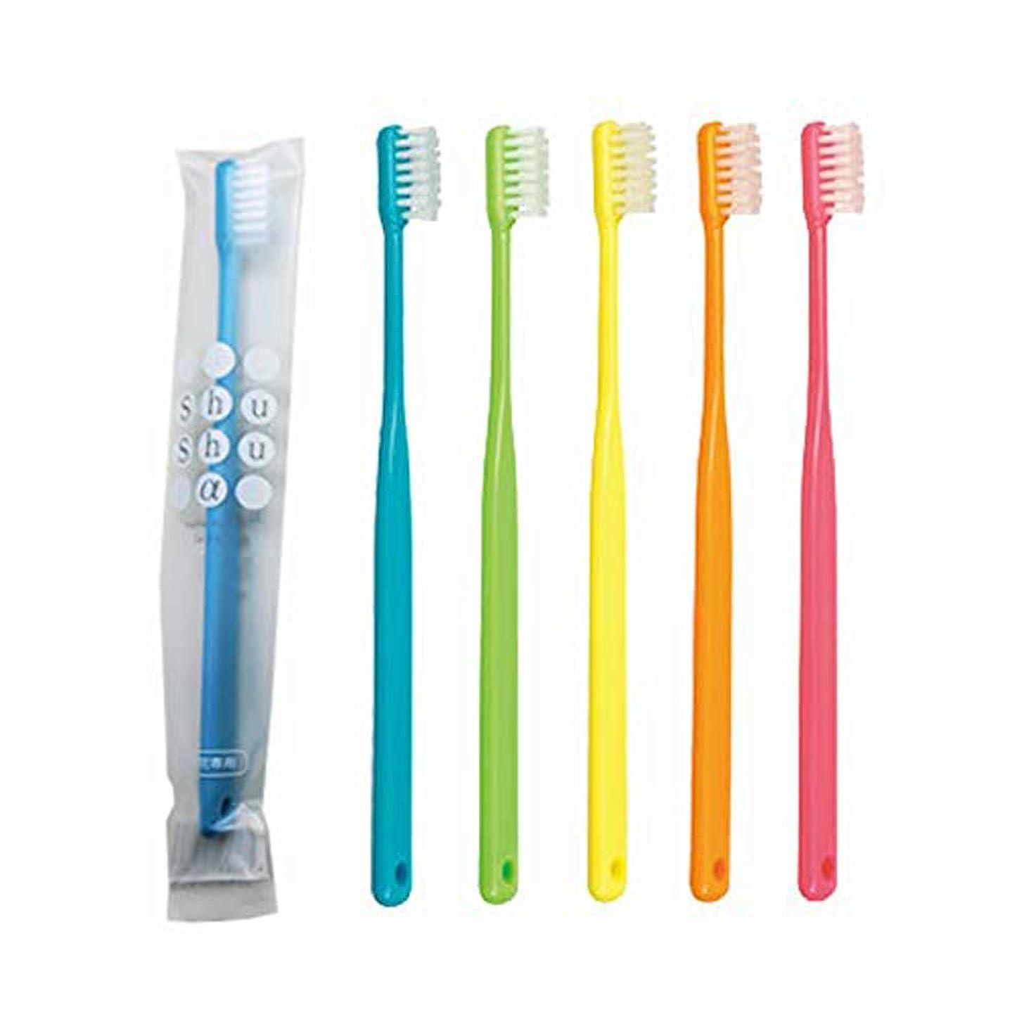 有効な代わりのディベート歯科専売品 大人用歯ブラシ FEED Shu Shu α(シュシュアルファ)×10本 M(ふつう)