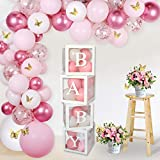 Baby Balloon Box for Baby Shower,DIY Transparent Baby Blocks for Baby 1st Birthday Party Decorations,Gender Reveal Party Supplies,Bridal Showers,Birthday Party Backdrop