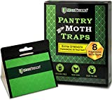 Maxguard Pantry Moth Traps (8 Pack) with Extra Strength Pheromones | Non-Toxic Sticky Glue Trap for Food and Cupboard Moths in Your Kitchen | Trap and Kill Moths | (8)