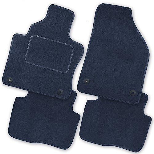 Bär-AfC AU00069 Royal Auto Fußmatten Velours Blau, Rand Kettelung Blau, Textiler Trittschutz, Set 4-teilig, Passgenau für Modell Siehe Details