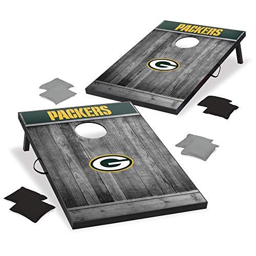 Wild Sports 2'x3' MDF Wood NFL Green Bay Packers Cornhole Set - Gray Wood Design