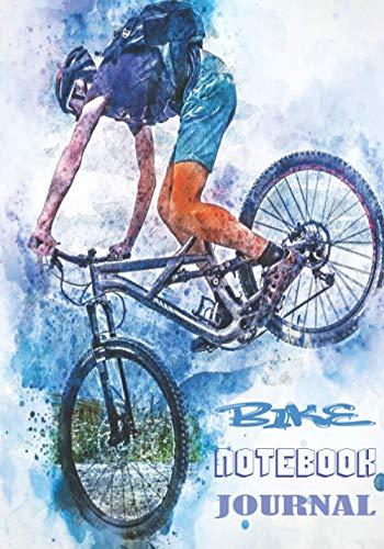BIKE NOTEBOOK JOURNAL: Cuaderno con líneas en blanco para cualquier persona que ame su bicicleta, sea cual sea su edad. Ideal como regalo para todos los aficionados al ciclismo.