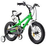 RoyalBaby Bicicletas Infantiles niña niño Freestyle BMX Ruedas auxiliares Bicicleta para niños 12 Pulgadas Verde
