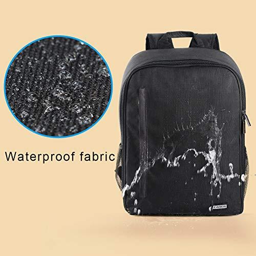 CADeN Kamerarucksack Camera Backpack Wasserabweisend Kameratasche Fototasche Kompatibel mit Sony Canon Nikon und 1 DSLR/SLR 7 Objektiv Stativ Zubehör (Schwarz-L)
