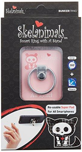BUNKER RING Skelanimals (5 Character)バンカーリング  iPhone/iPad/iPod/Galaxy/Xperia/スマートフォン・タブレットPCを指1本で保持・落下防止・スタンド機能(Panda Pink )