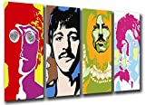 Wandbild - Beatles, John Lennon, Paul McCartney, 131 x 62