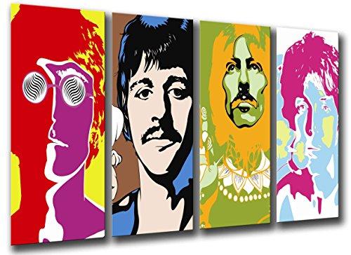 Wandbild - Beatles, John Lennon, Paul McCartney, 131 x 62 cm, Holzdruck - XXL Format - Kunstdruck, ref.26097
