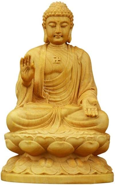 JJSPP Sale special price Buddha Wood Carving Boxwood Ranking TOP10 Figurine Small B Statue