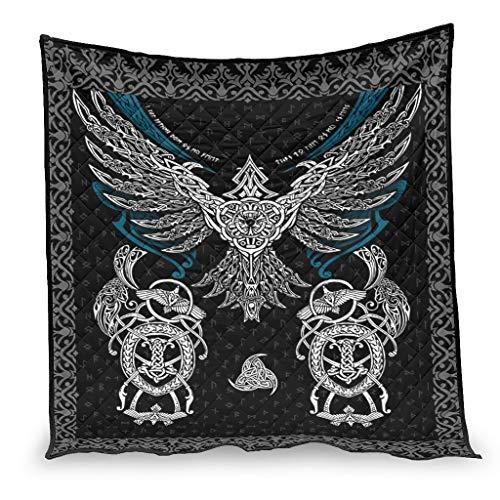 Shire Terry Colcha de verano Viking Eagle Luxury Warm Quilt para sofá cama blanco 230x260cm
