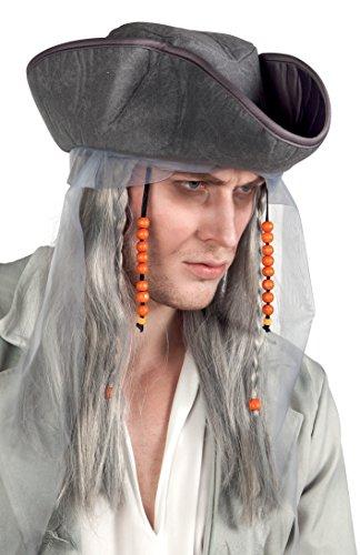 Boland 85726 - Adulto Peluca Pirata Fantasma con sombrero, pelucas y postizos