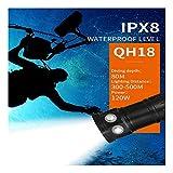 huichang Tauchlampe Unterwasser Taschenlampe, Super Hell 80m Wasserdicht LED TaucherLampe für Video...