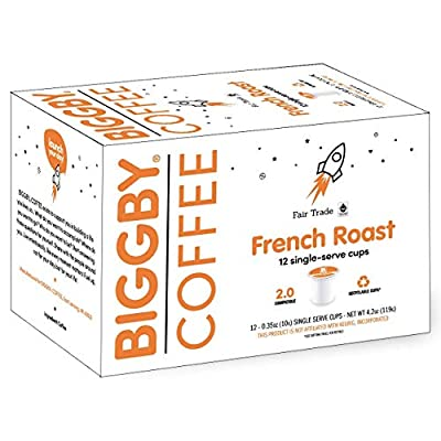 French Roast K Cups by BIGGBY Coffee | 72 Dark Roast Keurig Cups | Single Serve K-cups for Keurig Coffee Maker | Organic Coffee Pods Bagged in USA | Coffee with Caffeine | Enjoy in Mug or Tumbler
