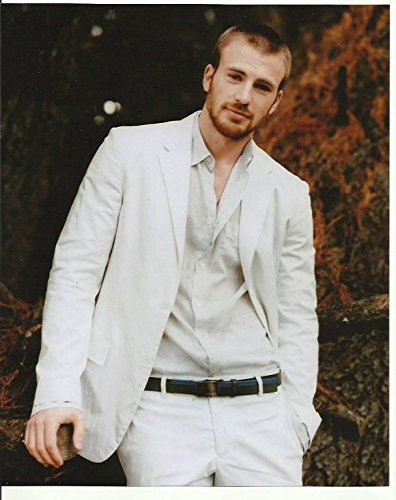 Chris Evans in white suit - 8 x 10 Photo 004