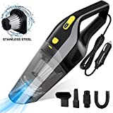 Uvistare Car Vacuum Cleaner,6000Pa Powerful Handheld Vacuums Portable Wet/Dry Hoover 12V 120W 4-in-l