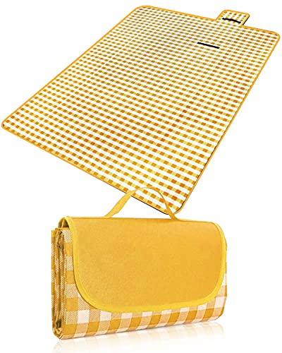 Rantizon Picnic Blankets, 220 X 200 cm Waterproof Picnic Rug Folding Large...