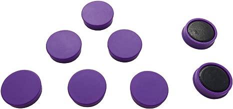 janrax 24 mm Round Flat Whiteboard Office Fridge Magnets (Pack of 12 , Purple)