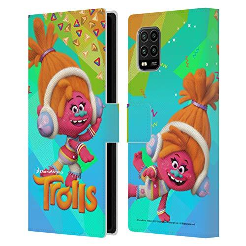 Head Case Designs Licenciado Oficialmente Trolls DJ Suki Pack Snack Carcasa de Cuero Tipo Libro Compatible con Xiaomi Mi 10 Lite 5G