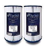 ClurTech FRX-4301-2 Replacement 2 Pack AquaTerra 50 Sq Ft Spa Filter Cartridge PFF42TC-P4 5ch-37 FC-2402 AK-4301 303279 AQUAAK-4301 HSAK-4301, White