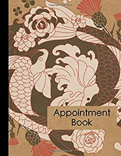 Tattoo Artist Appointment Book: Large Japanese Style Tattoo Business Appointment Scheduler and Daily Planner - 120 Pages and 15 Minute Increments - ... Piercing Business Date and Timekeeping Book