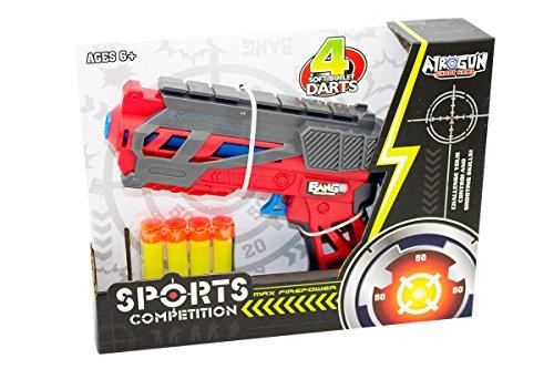 Kidz Corner- Pistola spara 4 dardi, Multicolore, 435138