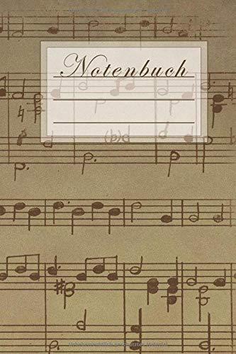 Notenbuch: Notenbuch für Musiker und Komponisten/ 50 Seiten /Blanko Staff Papier/ Manuskript Papier /Piano /Gitarre/ Violine/ Keyboard / 6x9 Forma DIN A5/Soft Cover matt