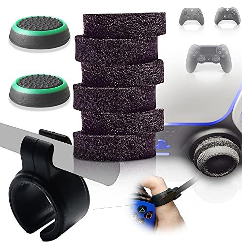 MatoSan Thumbstick Stoßdämpfer Zubehör Set Aim Assist & Smoke Control XBOX PS5 PS4 Controller Sticks FPS Boost Zielhilfe Grip-Kappen Aiming Joystick