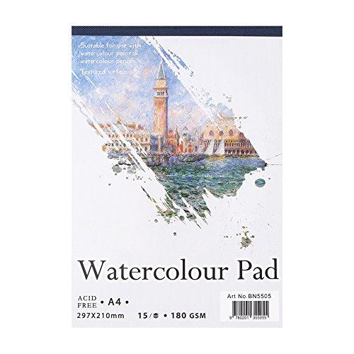 Sketch Book, A4 A5 Artist Sketch Book Papel de acuarela Bloc de notas para pintar Dibujo Diario Cuaderno Papel de arte Nice Drawing Supplies for Painter(#2)