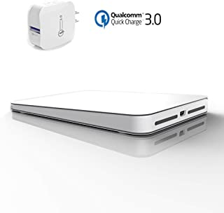 AIBUYTA Wireless Charger, 10W Qi-Certified Aluminum Wireless Charging Pad with USB Quick Wall Changer, Compatible iPhone Xs/XS Max/XR/X/8/8 Plus, Galaxy S10/S10 Plus/S10E/S9/S8