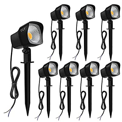 CLY 5W LED Landscape Spotlights 12V/24V Garden Pathway Lights IP66 Waterproof Warm White for Outdoor Lights,Swimming Pool,Patio,Driveway, Yard, Lawn