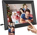 ailrinni cornice digitale wifi 8 pollici - hd ips touch screen cloud cornice foto digitale, auto-rotazione/mostra e condividi foto con l'app/trasmissione super privacy
