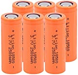 6 Piezas 18500 3.7V 2500 Mah Batería De Litio Recargable para Juguetes Linterna Faro Control Remoto Banco De Energía Producto De Iluminación