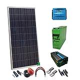 Kit Solar 12v 300wh/1500w complecto bateria inversor panel solar cables regulador
