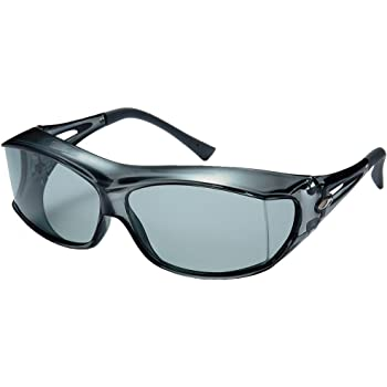 AXE(アックス) サングラス 悪天候・低光量時用 UVカット 偏光レンズ 180度以上視界確保 大型メガネ着用可能 SG605P