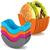 Soporte para hamburguesas, ajustable, caja de hamburguesas, contenedores de...
