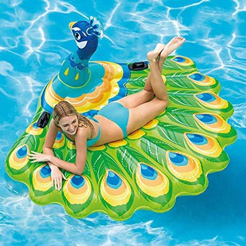 Deportes acuáticos Piscina Inflable Pavo Real Fila Flotante, Adultos Verano Juguetes Silla de Playa