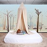 ZJchao Betthimmel, Baldachin aus Baumwolle, Dekoratives Leinwandbild, Verkleidung, Spielzelt für Baby, Fliegengitter, Gute Luftzirkulation, mit Installationswerkzeugen, 235cm khaki - 9