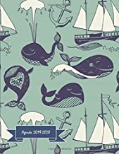 Agenda 2019-2020: One Day per Page Academic Planner / Student Diary from July 2019 to June 2020 - Time Schedule, Trackers, Goals and Gratitude Section ... and Monthly Calendars) - MARINE LIFE WHALE
